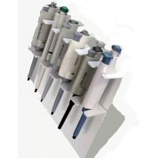 Estante Suporte para 6 micropipetas Universal - Fabricado em PVC branco